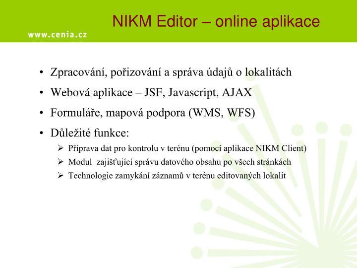 NIKM Editor – online aplikace
