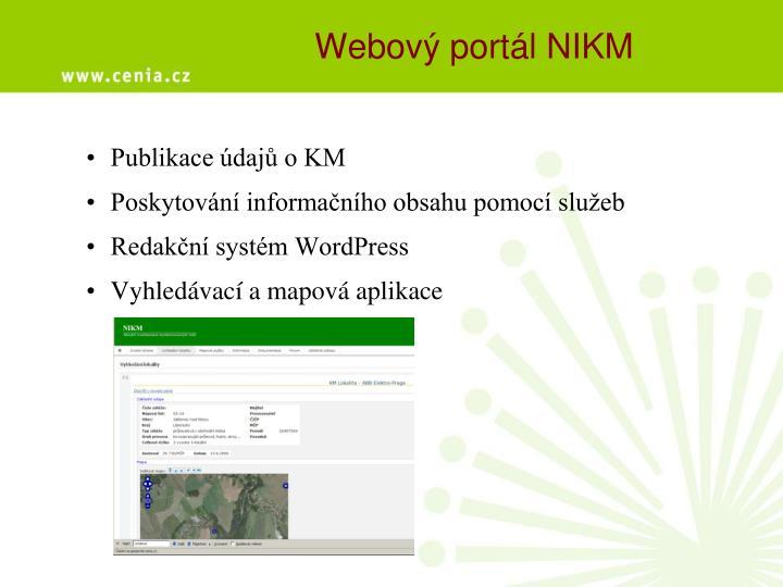 Webový portál NIKM