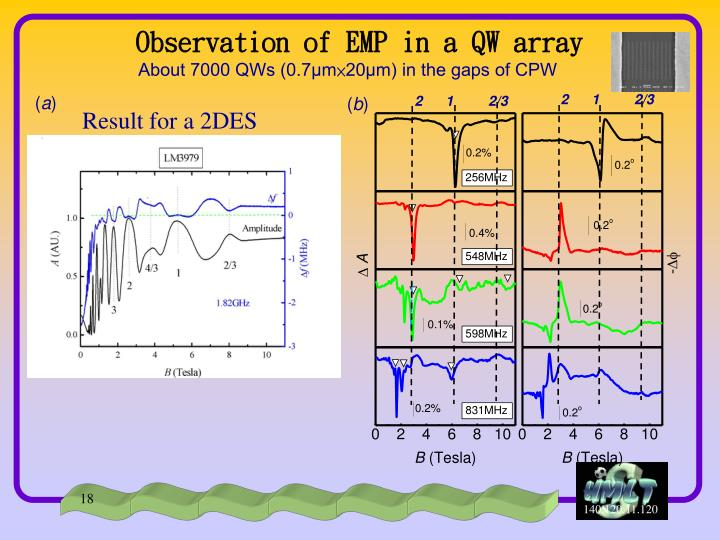 Observation of EMP in a QW array