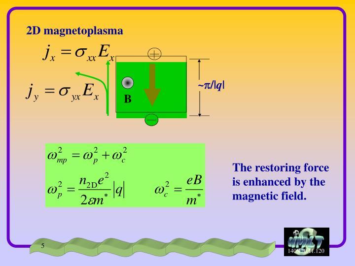 2D magnetoplasma