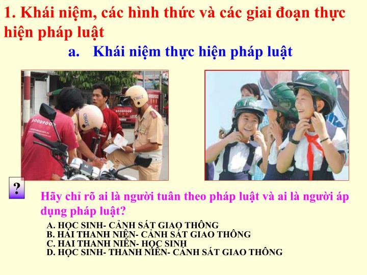 1. Khi nim, cc hnh thc v cc giai on thc   hin php lut