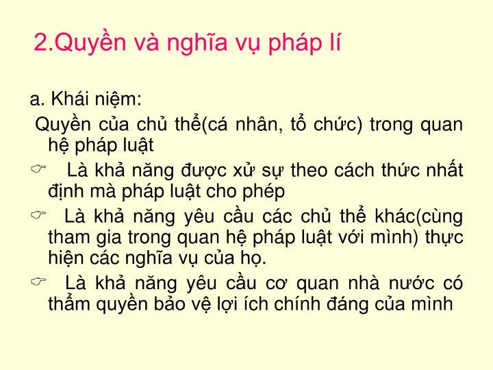 2.Quyn v ngha v php l