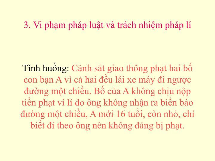 3. Vi phm php lut v trch nhim php l