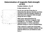 determination of magnetic field strength of n23