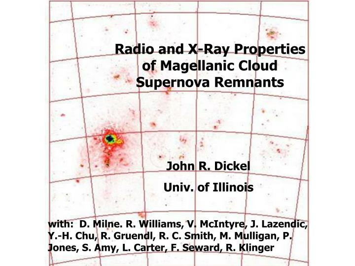Radio and X-Ray Properties of Magellanic Cloud Supernova Remnants