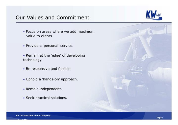 Our Values and Commitment