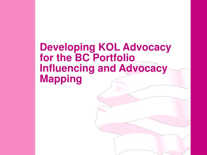 Developing KOL Advocacy