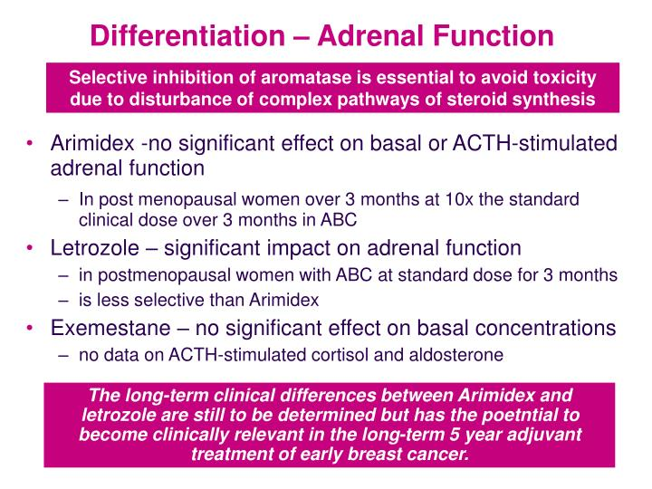 Differentiation – Adrenal Function