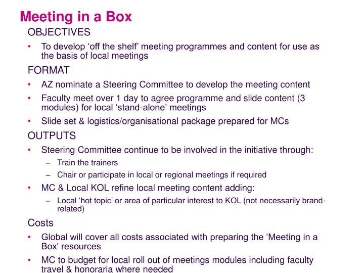Meeting in a Box