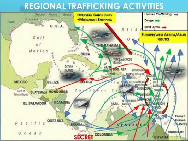 Regional trafficking activities