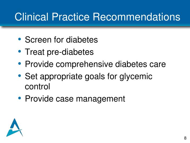 Clinical Practice Recommendations