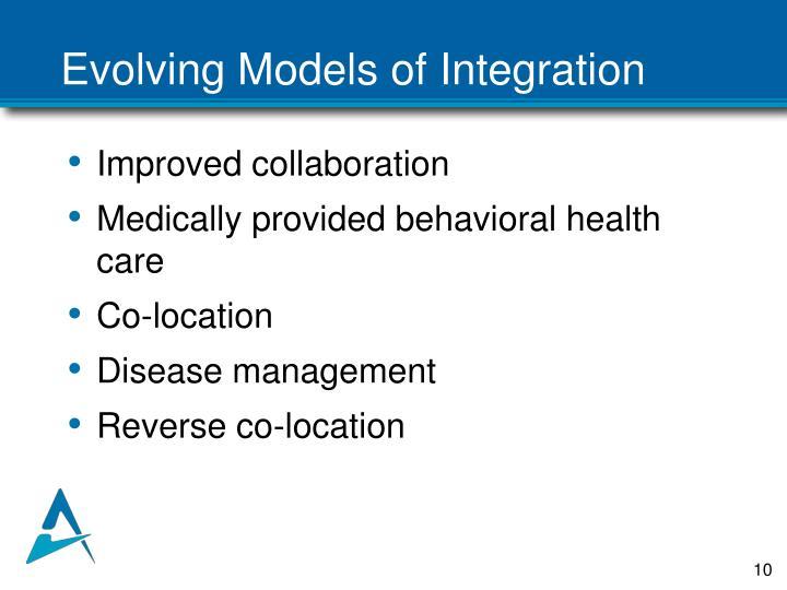 Evolving Models of Integration
