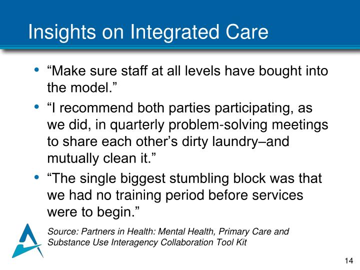 Insights on Integrated Care