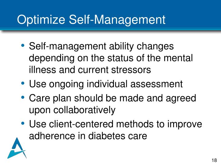 Optimize Self-Management