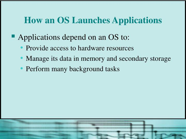 How an OS Launches Applications