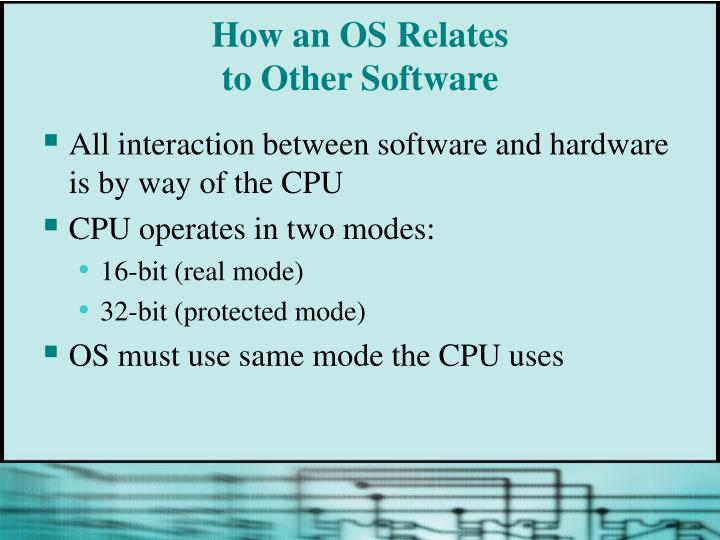 How an OS Relates