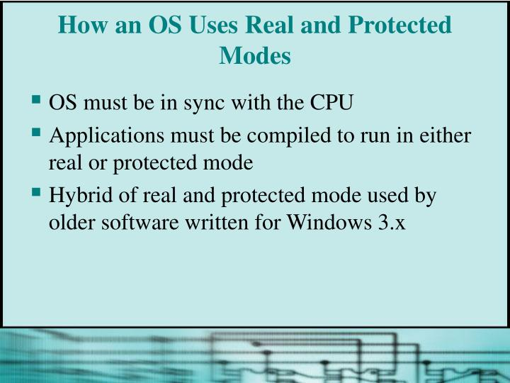 How an OS Uses Real and Protected Modes