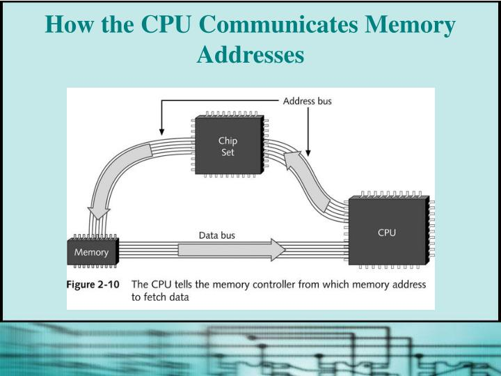 How the CPU Communicates Memory Addresses