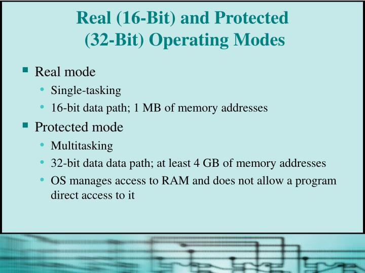 Real (16-Bit) and Protected