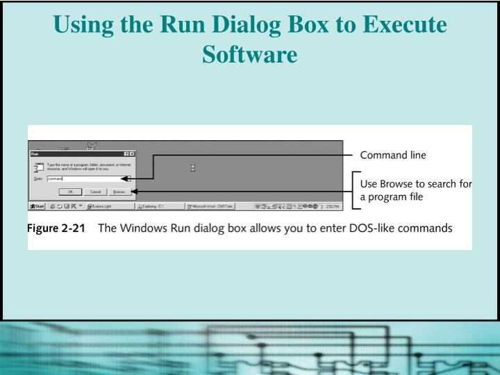 Using the Run Dialog Box to Execute Software