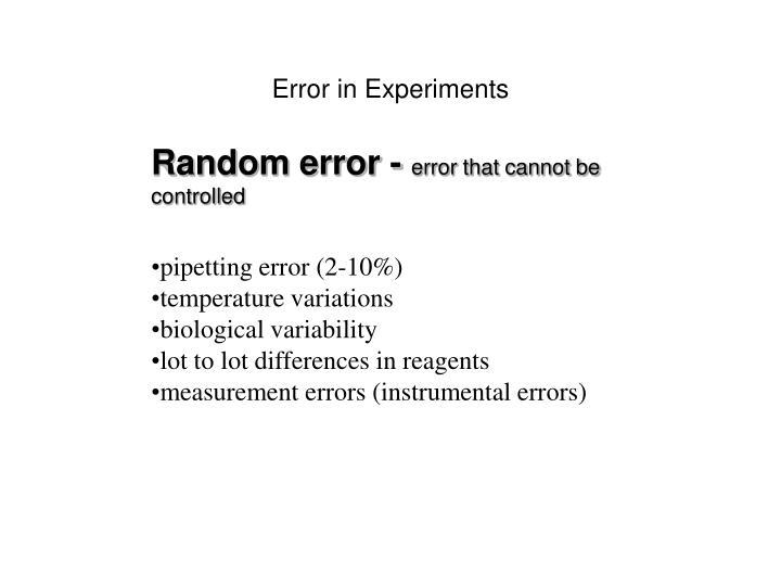 Error in Experiments