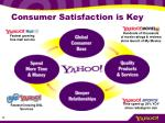 consumer satisfaction is key
