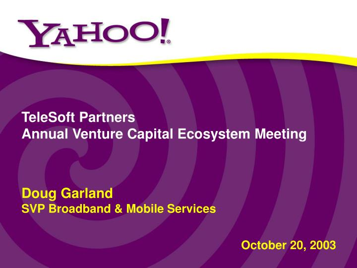 Telesoft partners annual venture capital ecosystem meeting