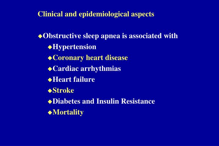 Clinical and epidemiological aspects