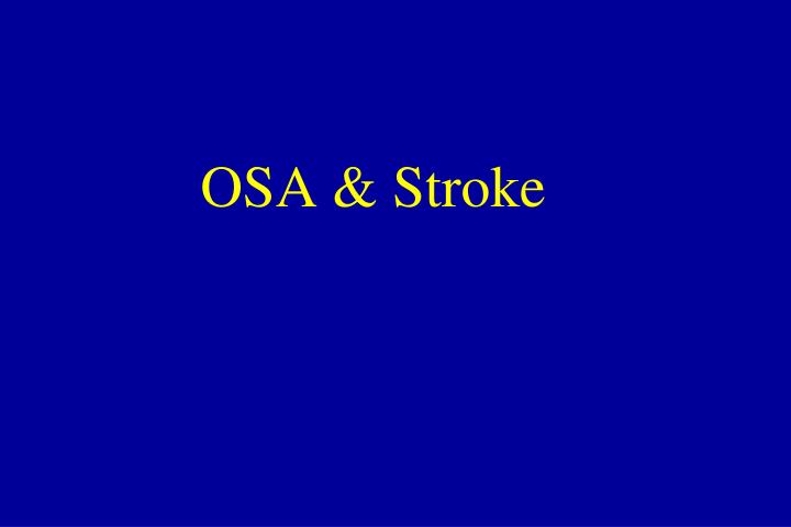 OSA & Stroke