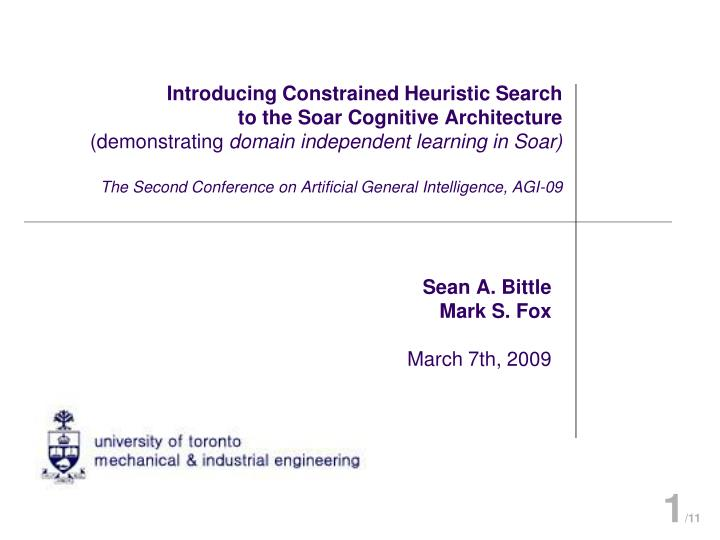 Introducing Constrained Heuristic Search
