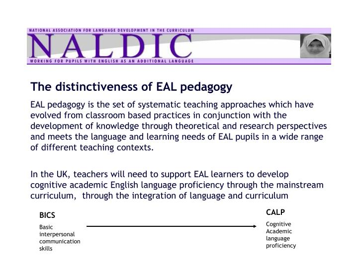 The distinctiveness of EAL pedagogy