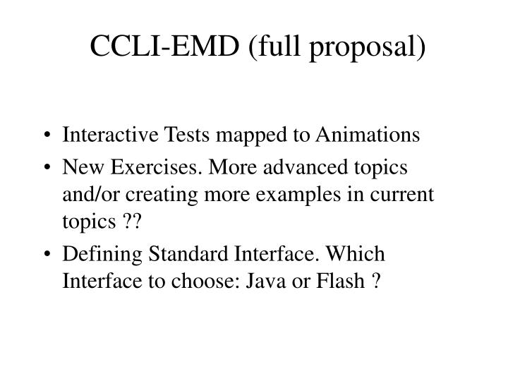CCLI-EMD (full proposal)