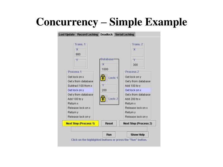 Concurrency – Simple Example