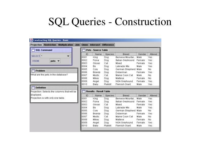 SQL Queries - Construction