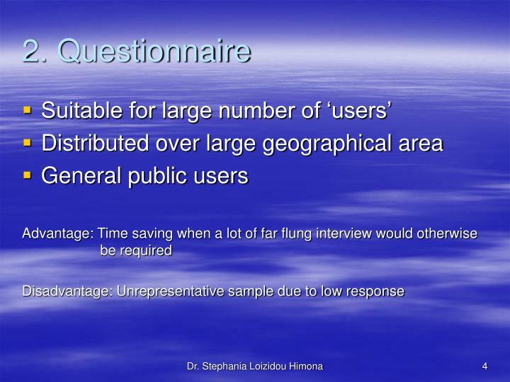 2. Questionnaire