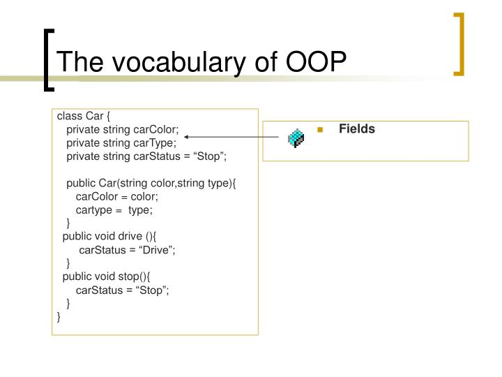 The vocabulary of oop1