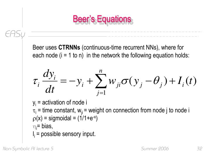 Beer's Equations