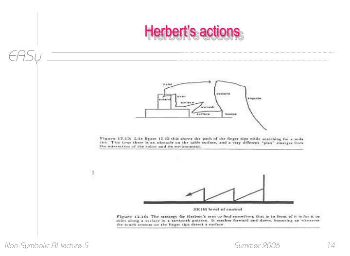 Herbert's actions