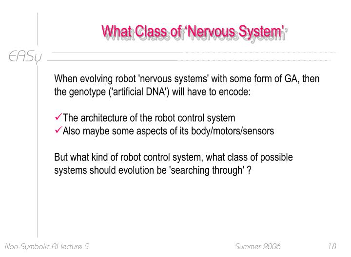 What Class of 'Nervous System'