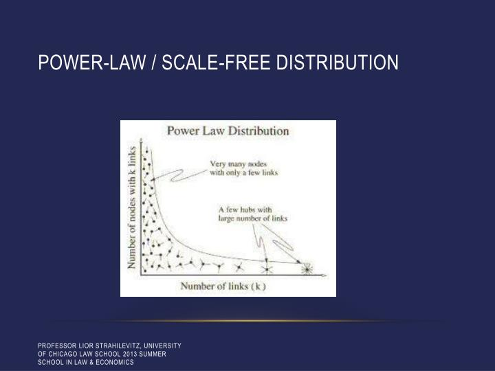 Power-law / scale-free distribution