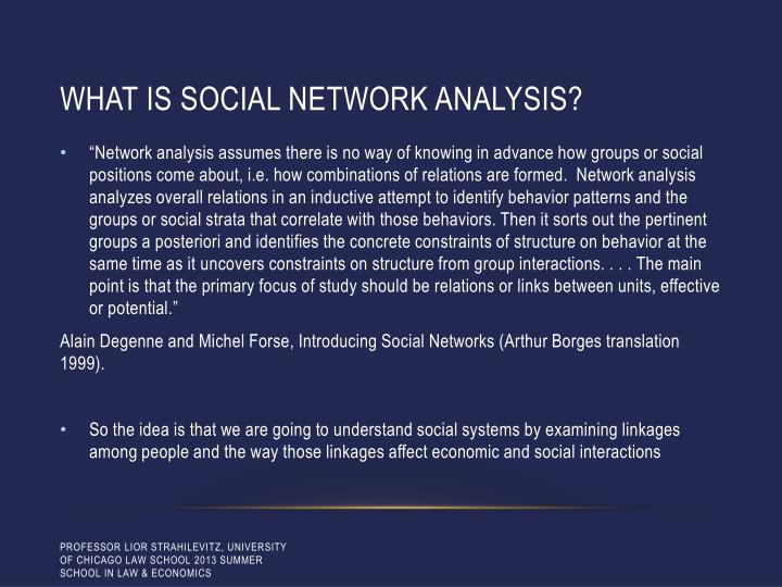 What is social network analysis?