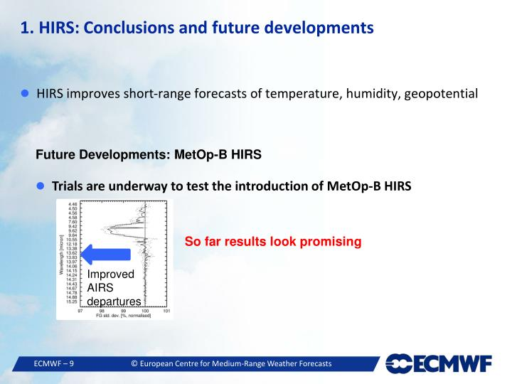 1. HIRS: Conclusions and future developments