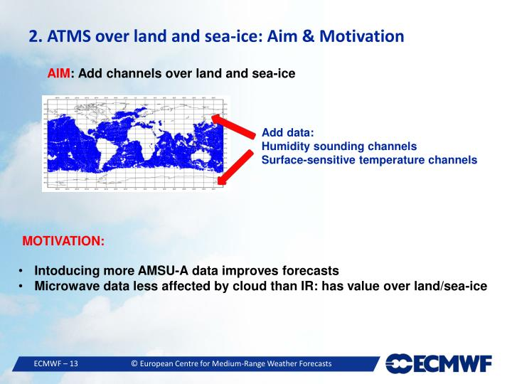 2. ATMS over land and sea-ice: Aim & Motivation