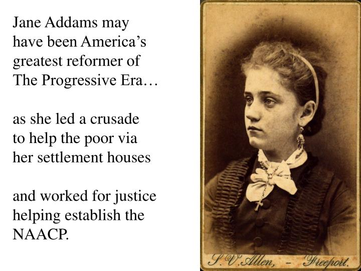 Jane Addams may