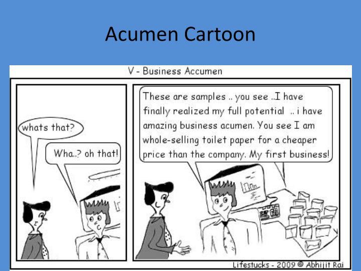 Acumen Cartoon