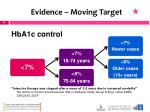 evidence moving target