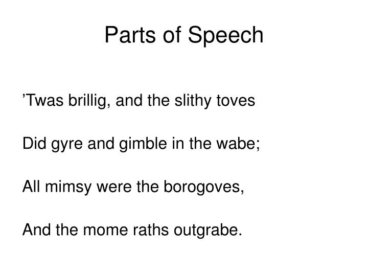 Parts of speech1
