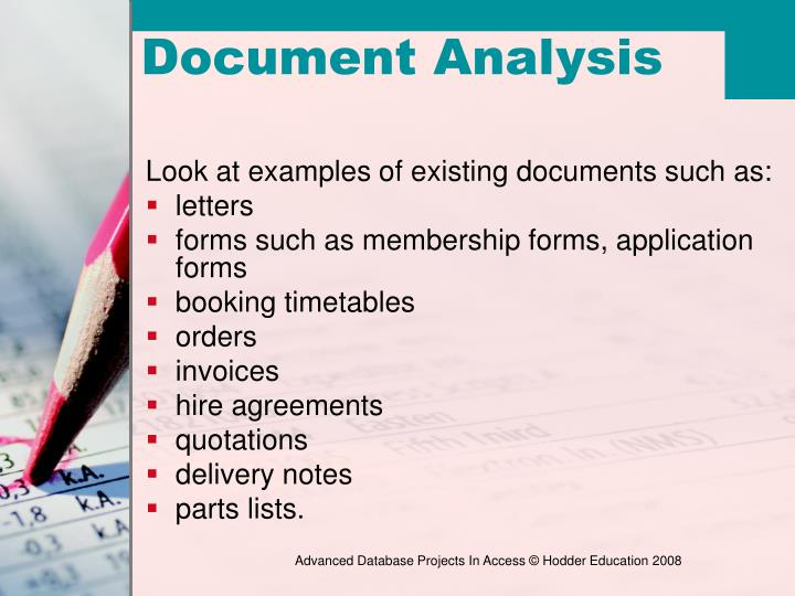 Look at examples of existing documents such as: