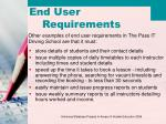 end user requirements1