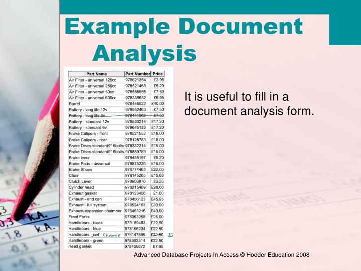 Example Document Analysis